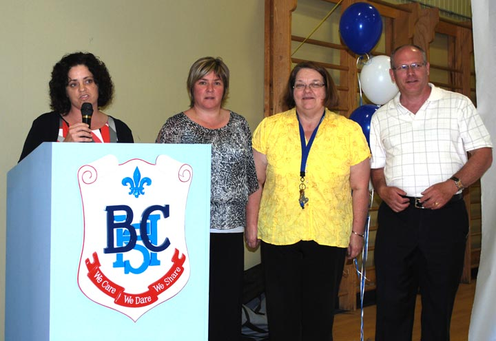 NSCA Executive Director Jody Lessard, along with project team members Diane Bélanger, Mary Cormier and Stephen Kohner.